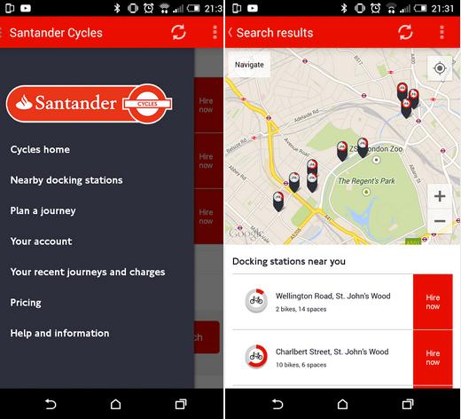 Santander Cycles App