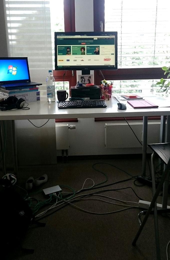 Christine's desk
