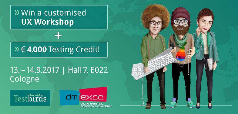 Coming to dmexco? Win an UX workshop for your digital product!