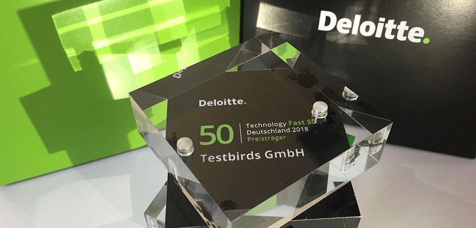 Testbirds wins Deloitte Technology Fast 50 Award