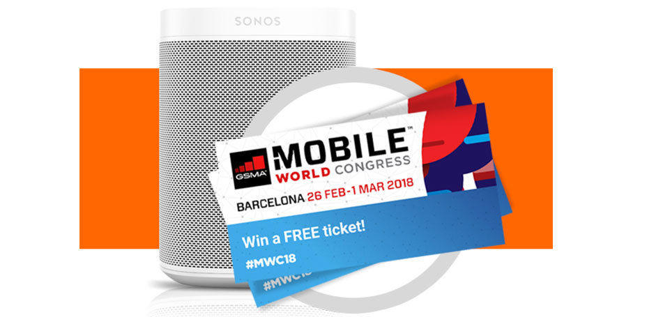Testbirds @ Mobile World Congress – Join us in Barcelona and win a Sonos One smart speaker!