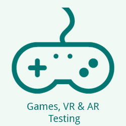 Testing Games, VR & AR